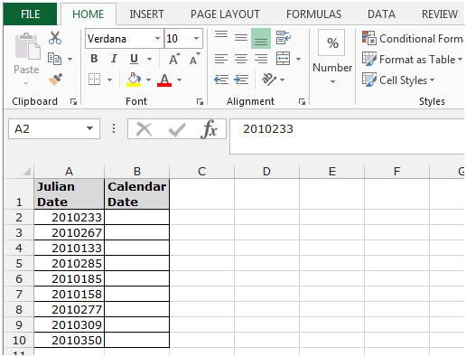 Converting A Julian Date To A Calendar Date In Microsoft  Julian Calendar Converter