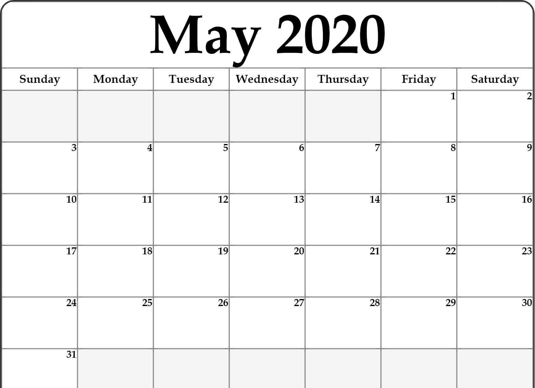 Create Your Free Fillable Monday Through Friday Calendar  Monthly Calendar Template