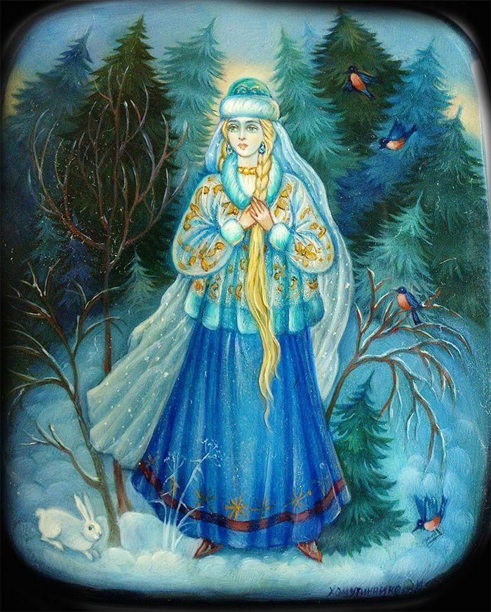 Снегурочка В Иллюстрациях Современных Художников  Дисней Замок Арт