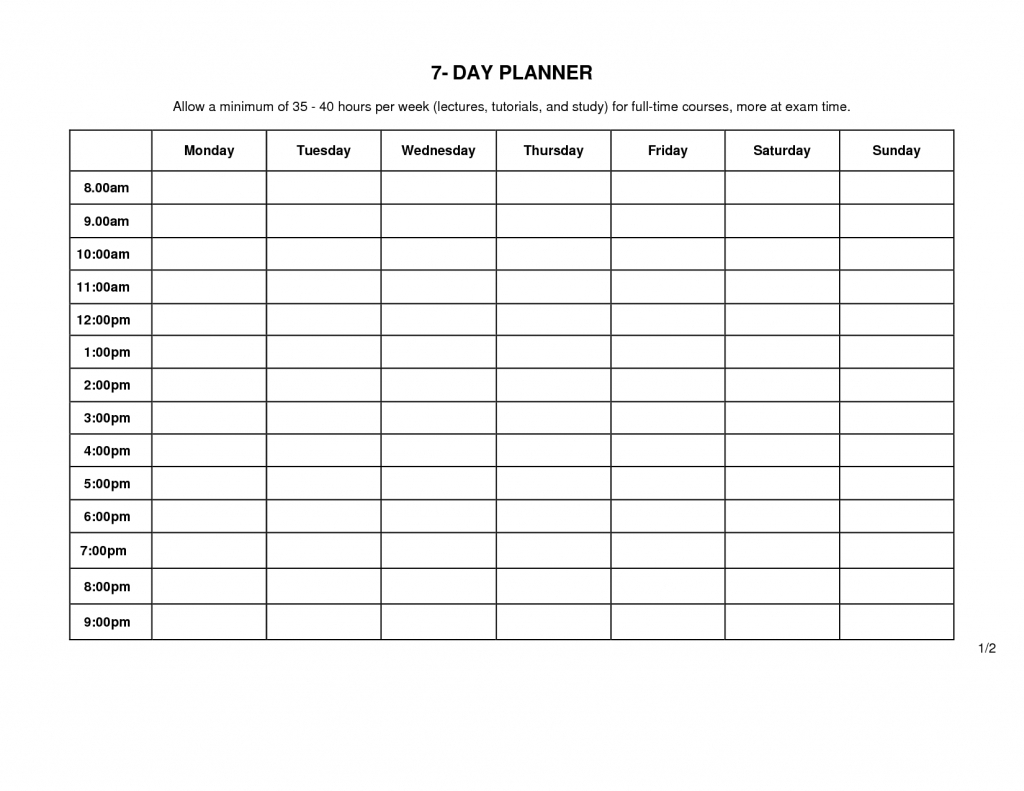 Day Planner Template Printable - Template Calendar Design  Calendar Schedule Weekly Editable