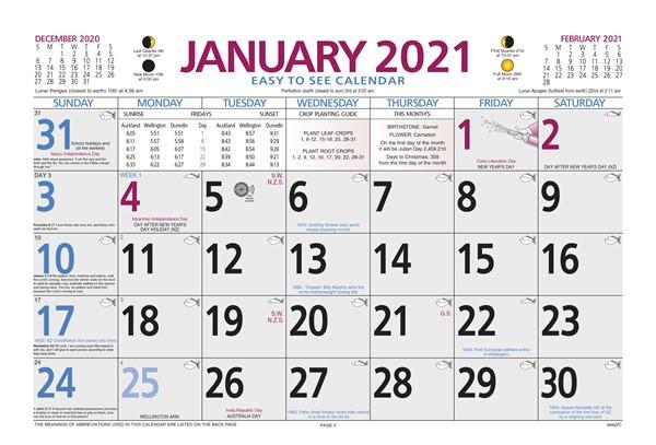 Diaries & Calendars - Easy To See 2021 Calendar Pad  2021 Calendar Govt. Of Kerala