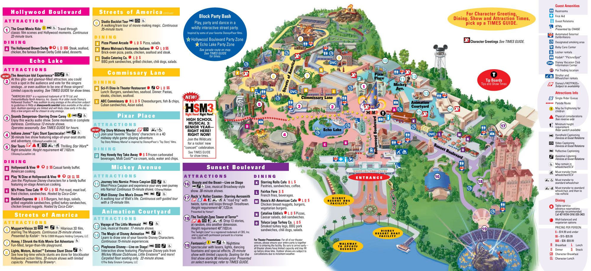 Disney Hollywood Studios Map. Clicking On The Pic Will  Printable List Of Disney World Rides 2021