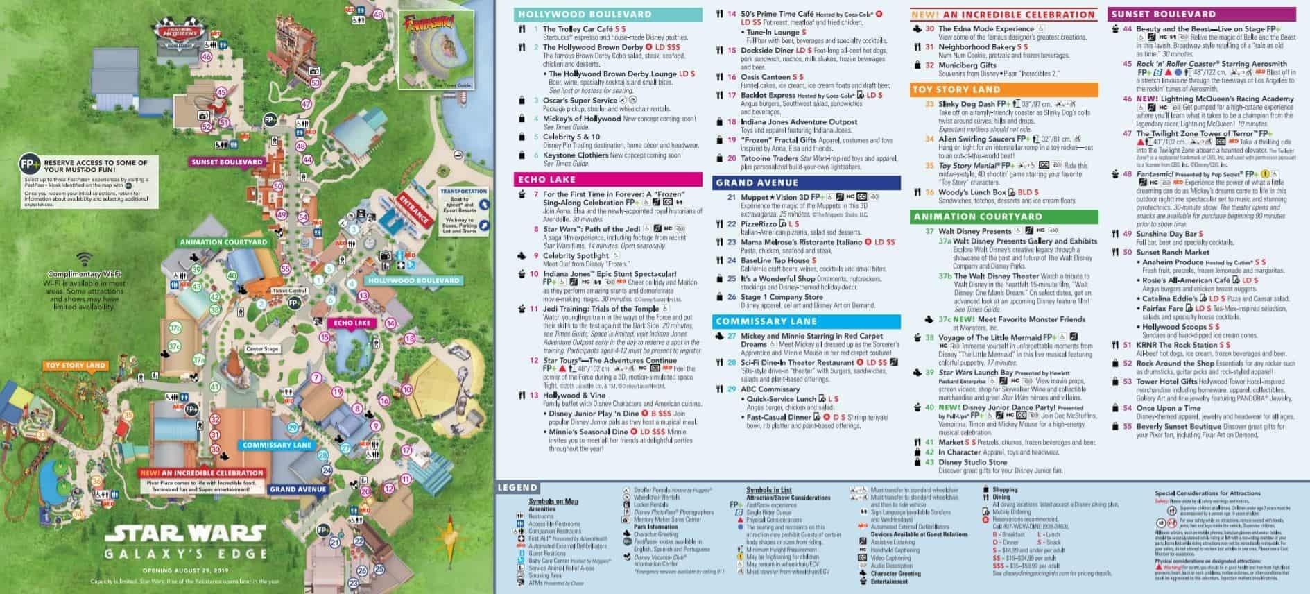 Disney World Attractions Printable List 2020 - Template  Louisiana Tax Free Weekend 2021