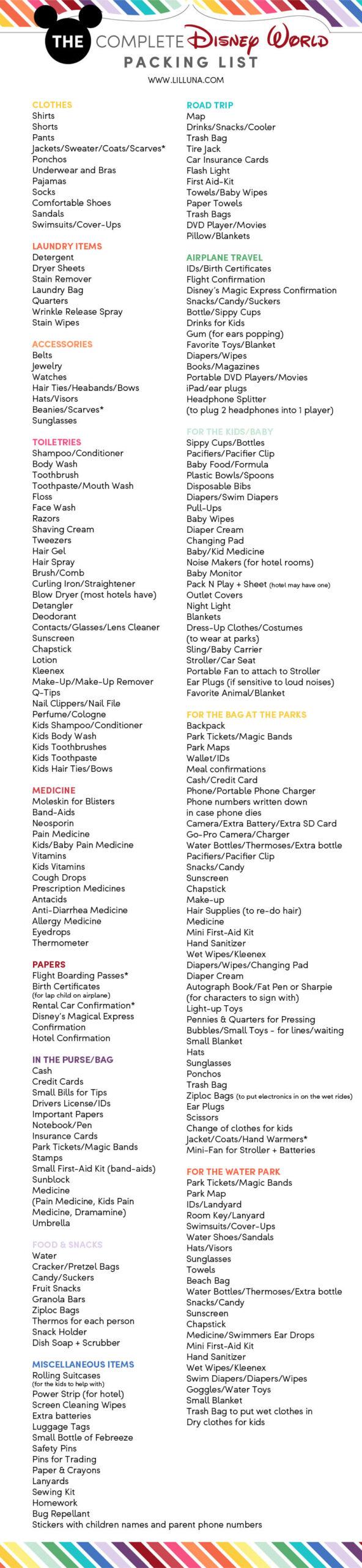Disney World Attractions Printable List | Example Calendar  Printable Attraction List Disney World