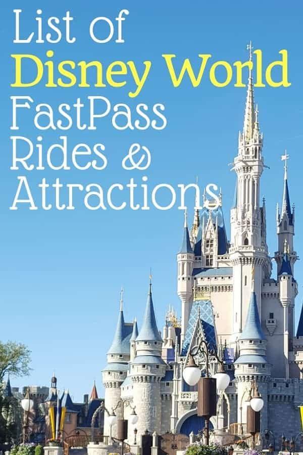 Disney World Fastpass Rides & Attractions List   Disney  List Of Current Disney World Attractions