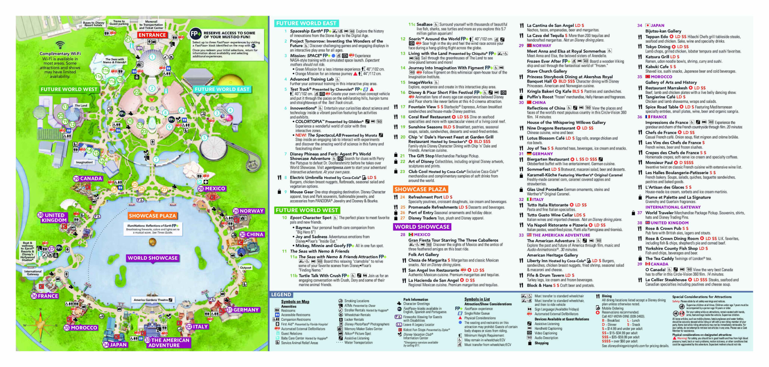 Disney World Maps • Wdw Travels  Disney World Attractions List Pdf