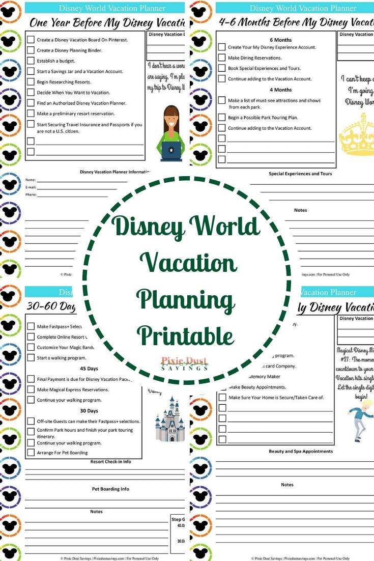 Disney World Touring Template Download | Calendar Template  Printable Attraction List Disney World