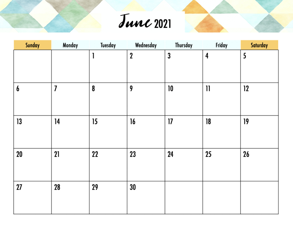 Editable 2021 Calendar Printable - Gogo Mama  June 2021-June 2021 Calendar