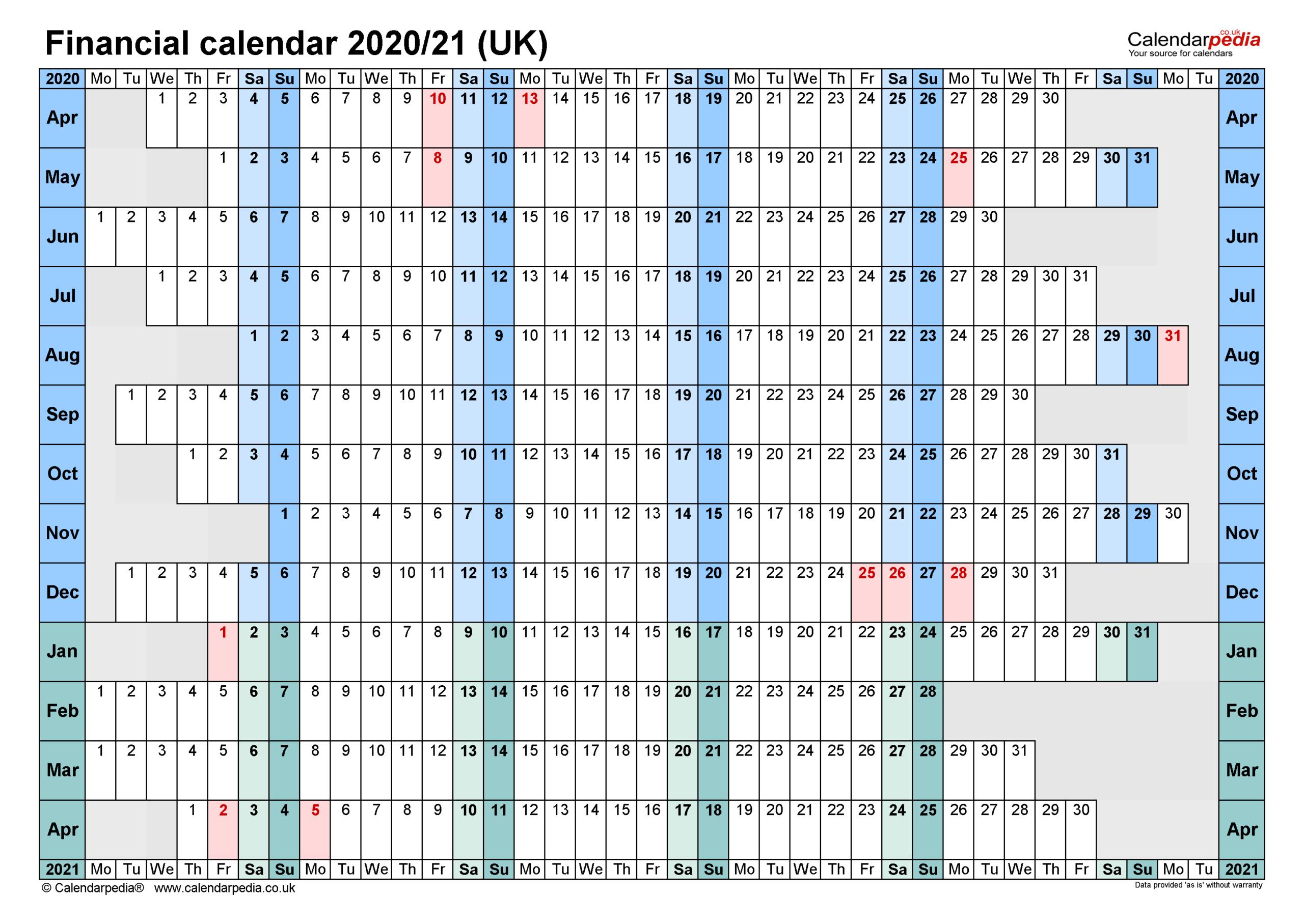 Excel Calendar 2021 With Week Numbers | Calendar  Financial Year Calendar Excel