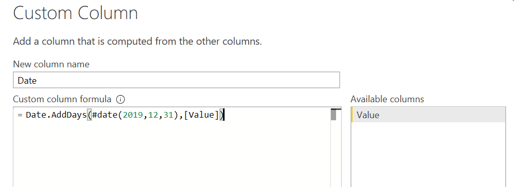 Excel - Power Query Add Month Column In Dependent On Index  If Month Column