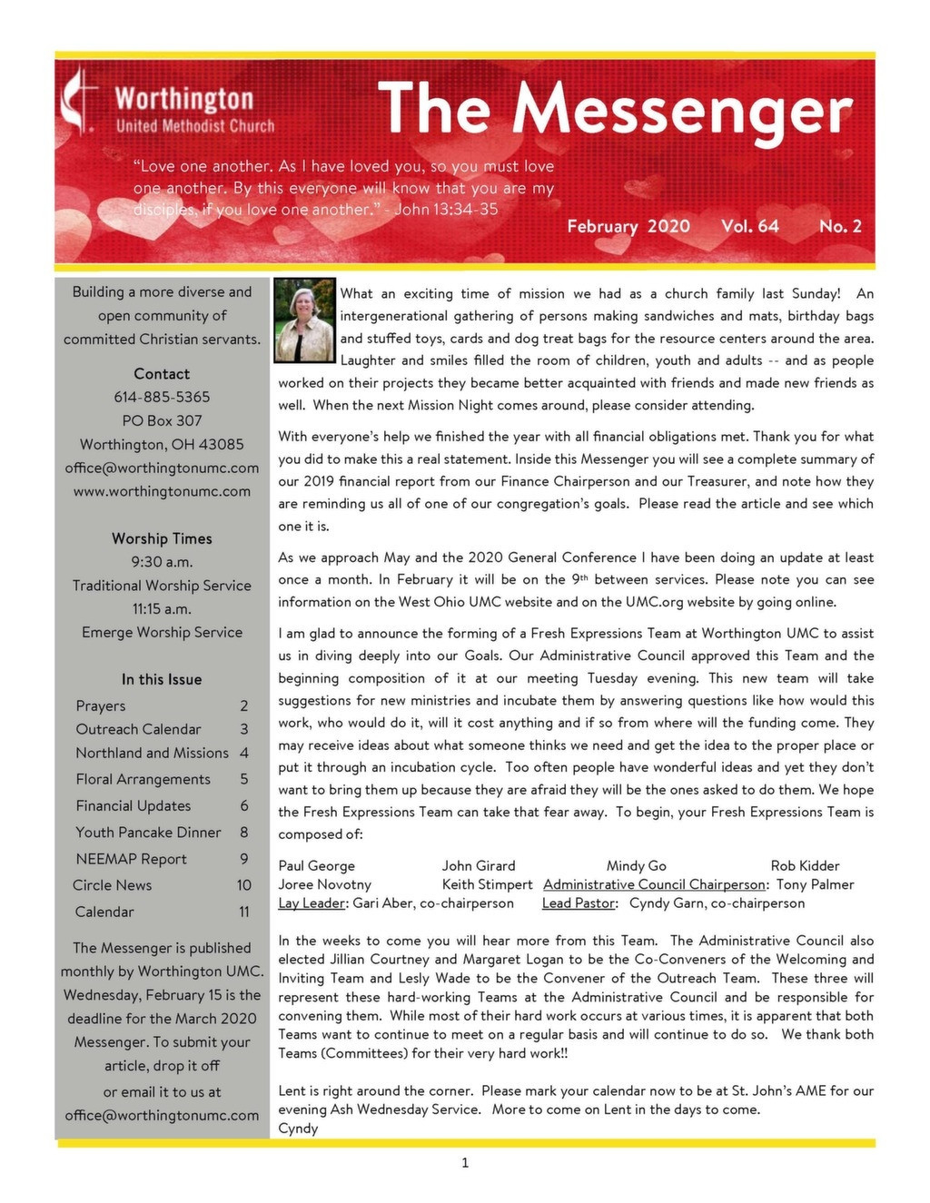 February United Methodist Calendar 2020 - Template  United Methodist Calendar Year 2021