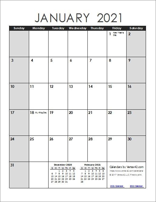 Fillable Calendar 2021 | Printable Calendar Design  Full Page Printable Monthly Calendar 2021