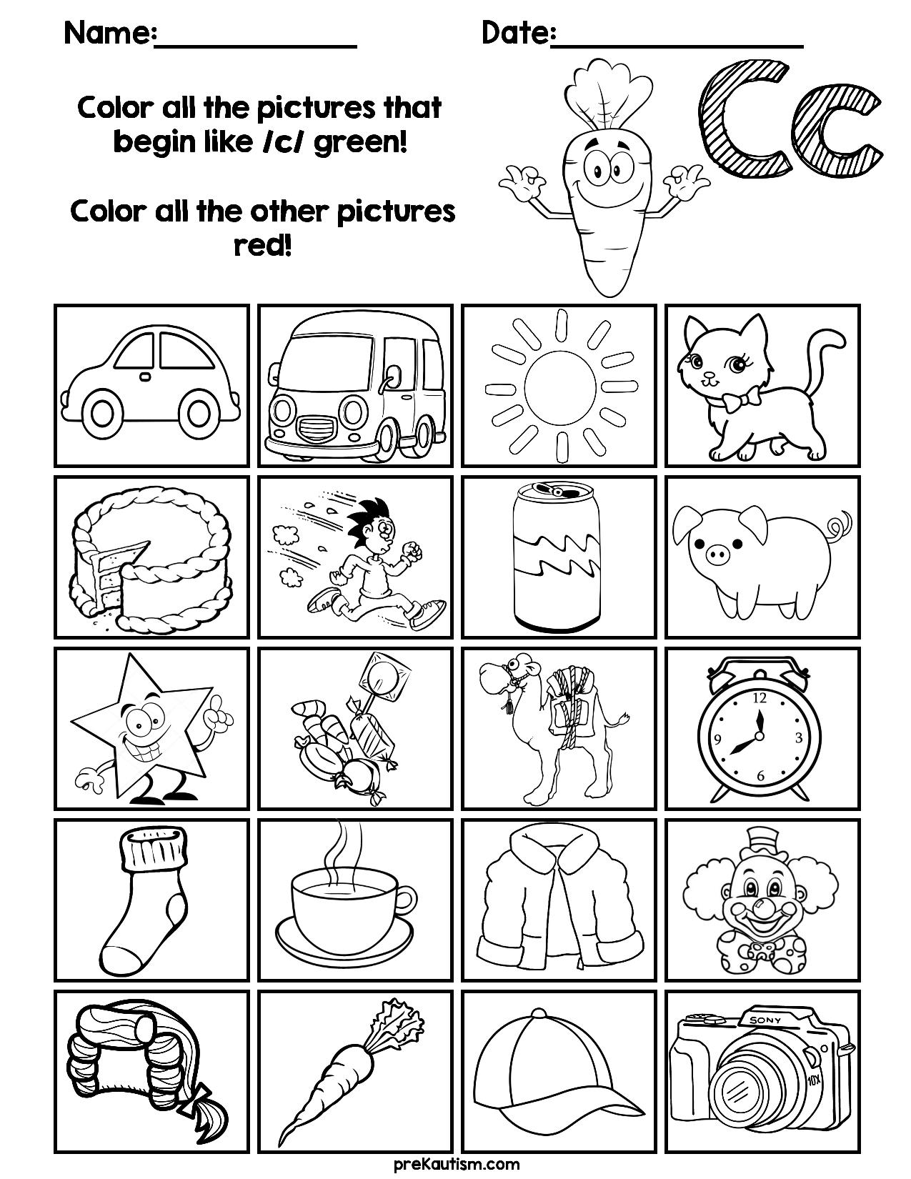 Find & Color Consonants Worksheets | Grade R Worksheets  Colour Filling Page For Grade R