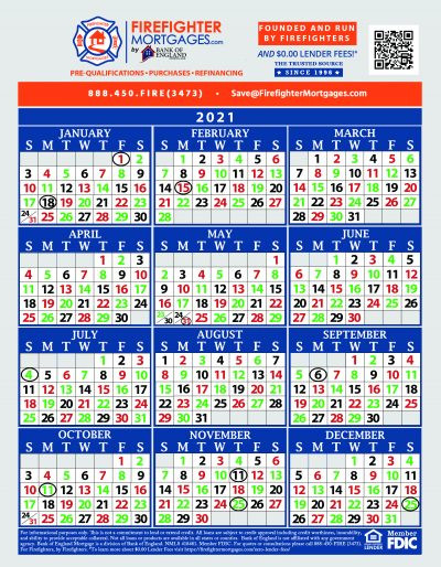 Firefighter Shift Calendars - Firefighter Mortgages®  Fdny Shift Schedule