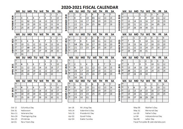 Fiscal Calendar 2020-21 Templates - Free Printable Templates  Printable Financial Year Calendar Australia