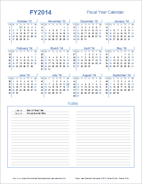 Fiscal Year Calendar Template For 2021 And Beyond  Financial Year Australia Dates