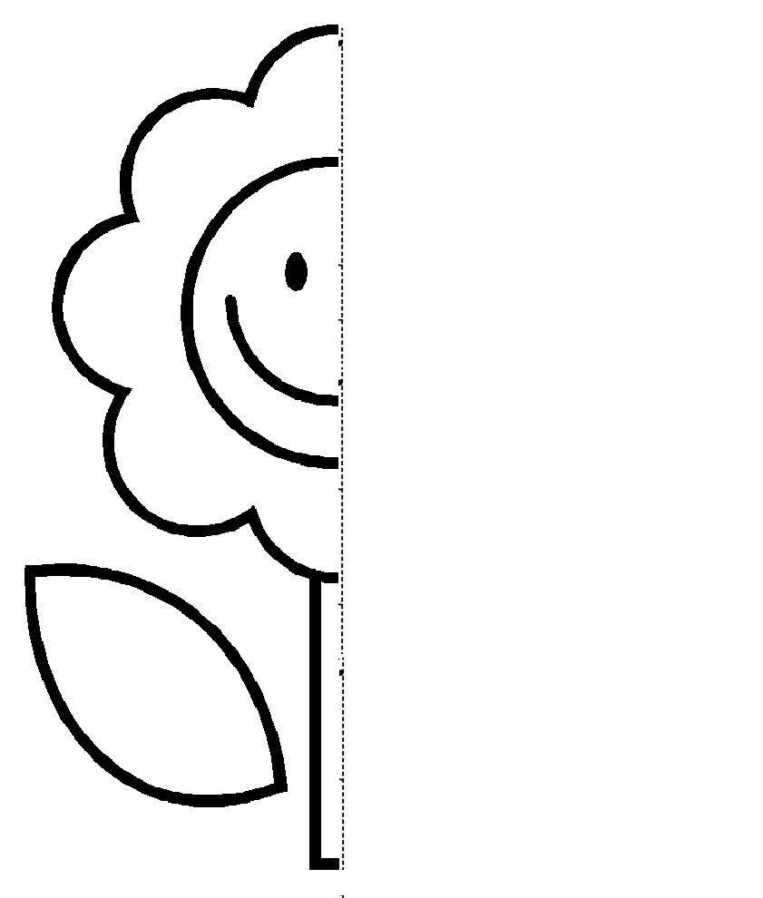 Flower Symmetry Activity Coloring Pages | Atividades De  Colour Filling Page For Grade R