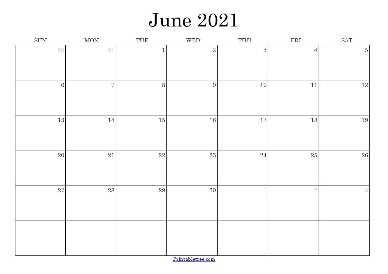 Free Download June 2021 Printable Calendar Templates Pdf  June 2021-June 2021 Calendar