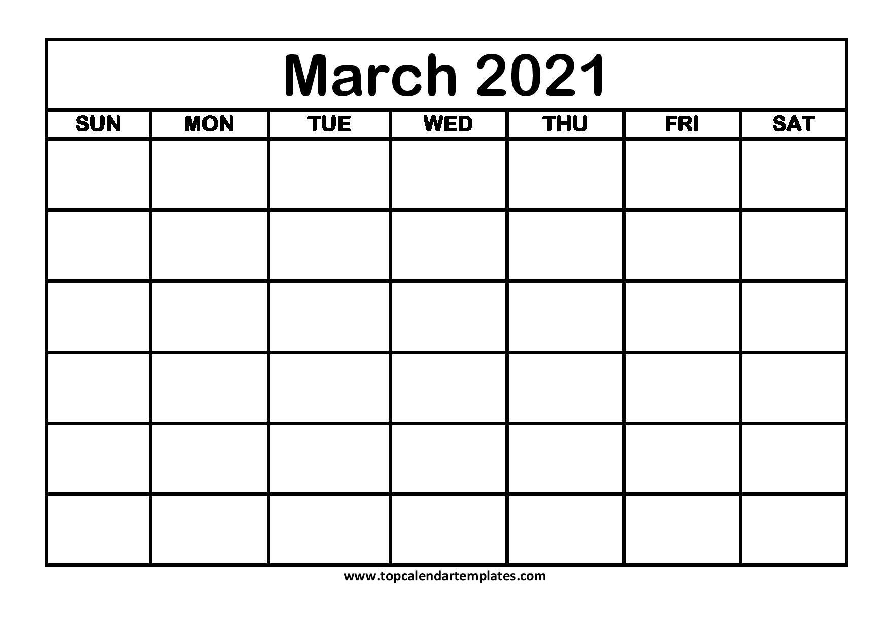 Free March 2021 Calendar Printable (Pdf, Word) Templates  Printable March 2021 Calendar Pdf