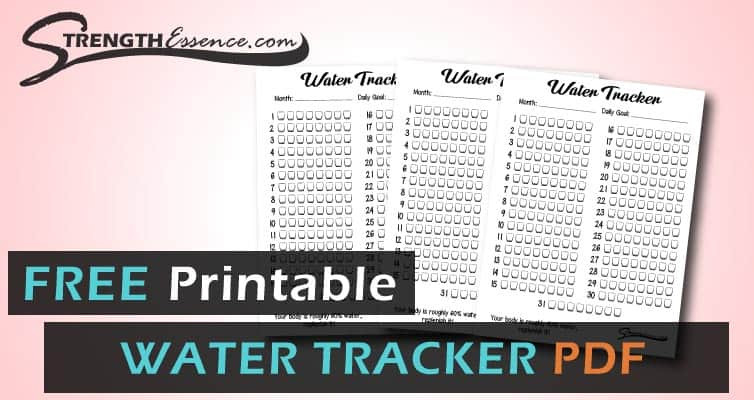 Free Pdf Water Tracker Printable 2021 - Strength Essence  30 Day Water Challenge Pdf