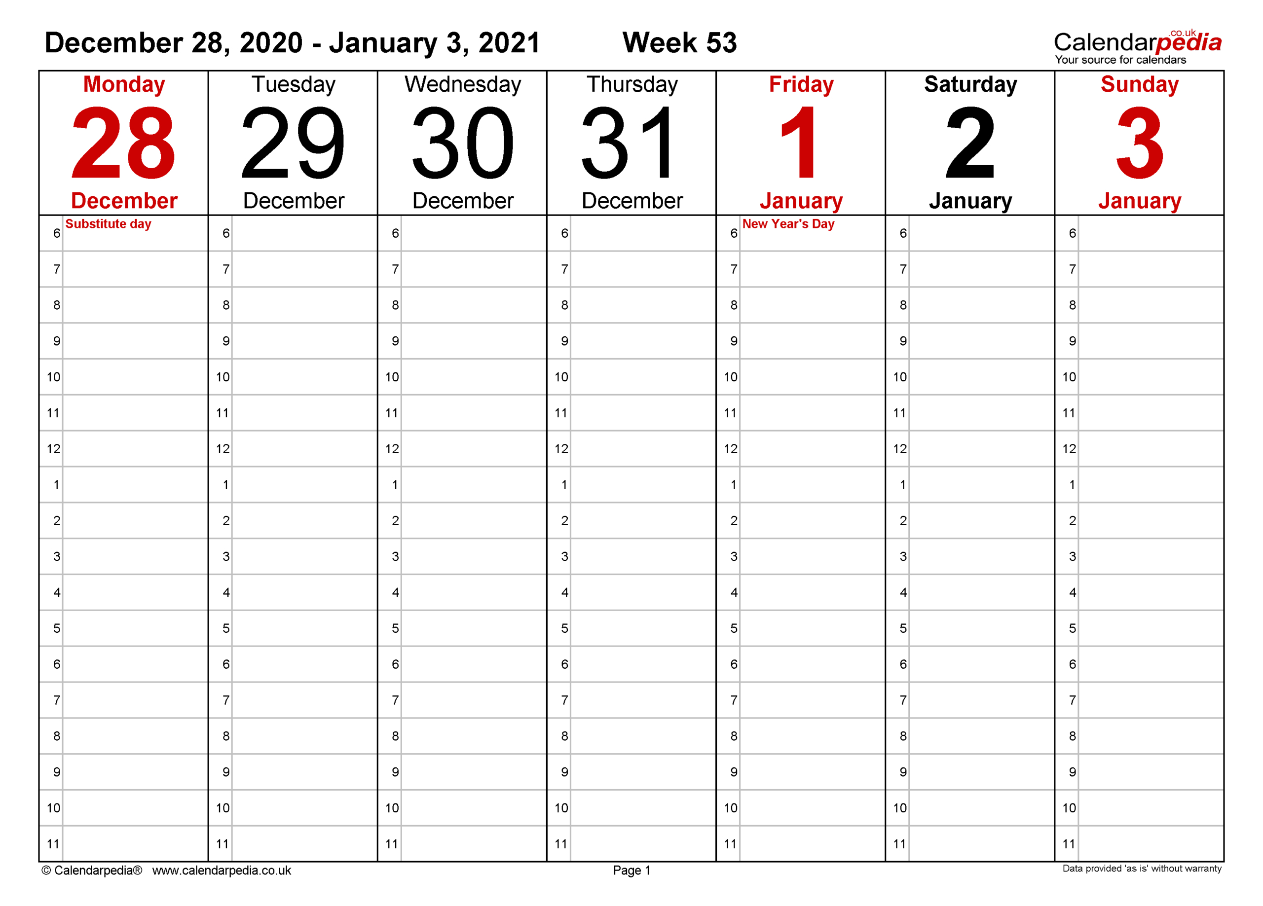 Free Print 2021 Calendars Without Downloading | Calendar  Fillable 2021 Calendar Template