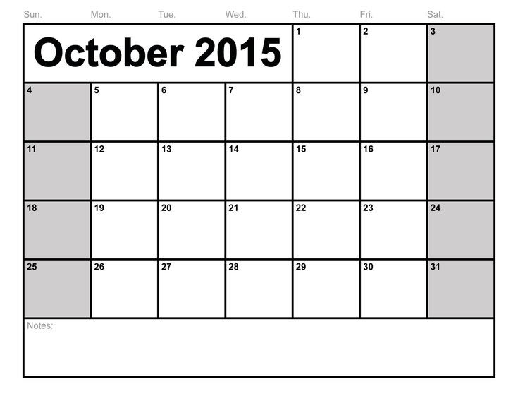 Free Printable Blank Calendars - Google Search   Editable  Full Size Blank Printable Calendar