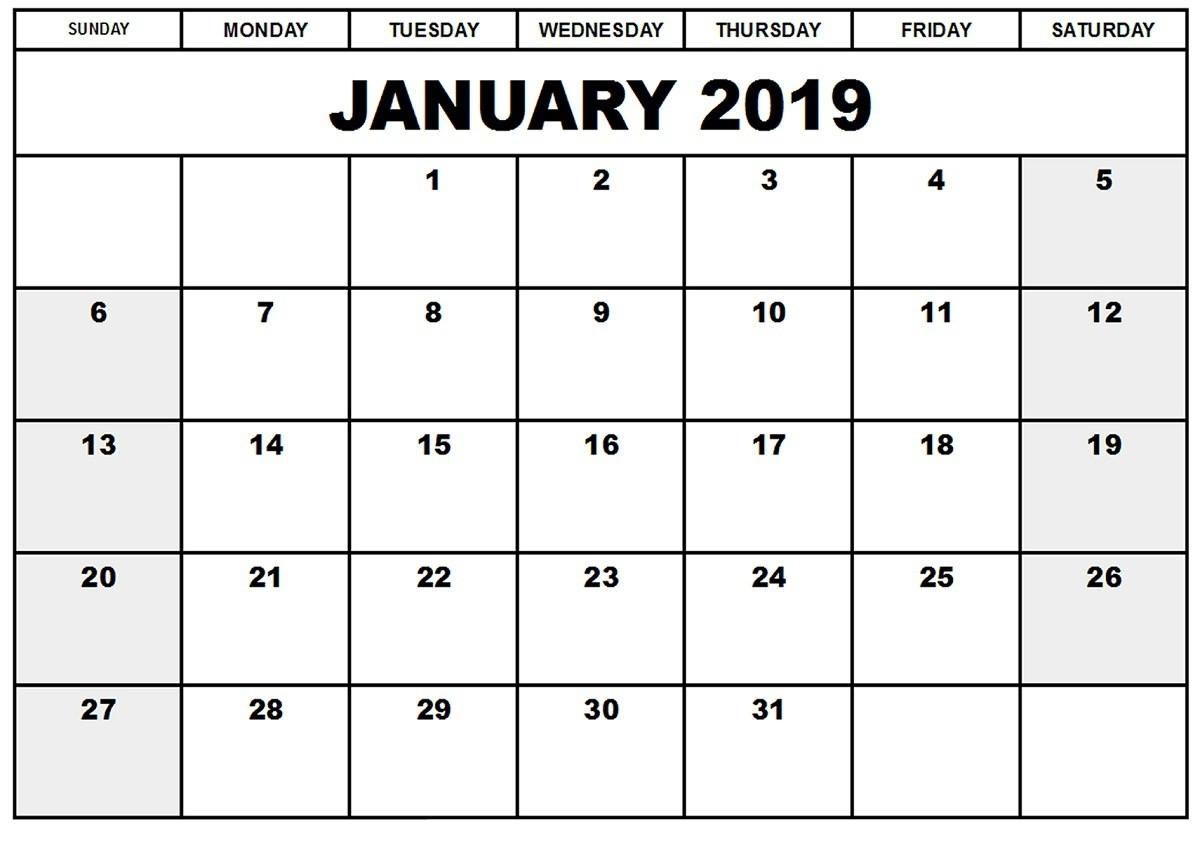 Free Printable Blank Monthly Calendar Template - Template  Editable Monthly Calendar Printable