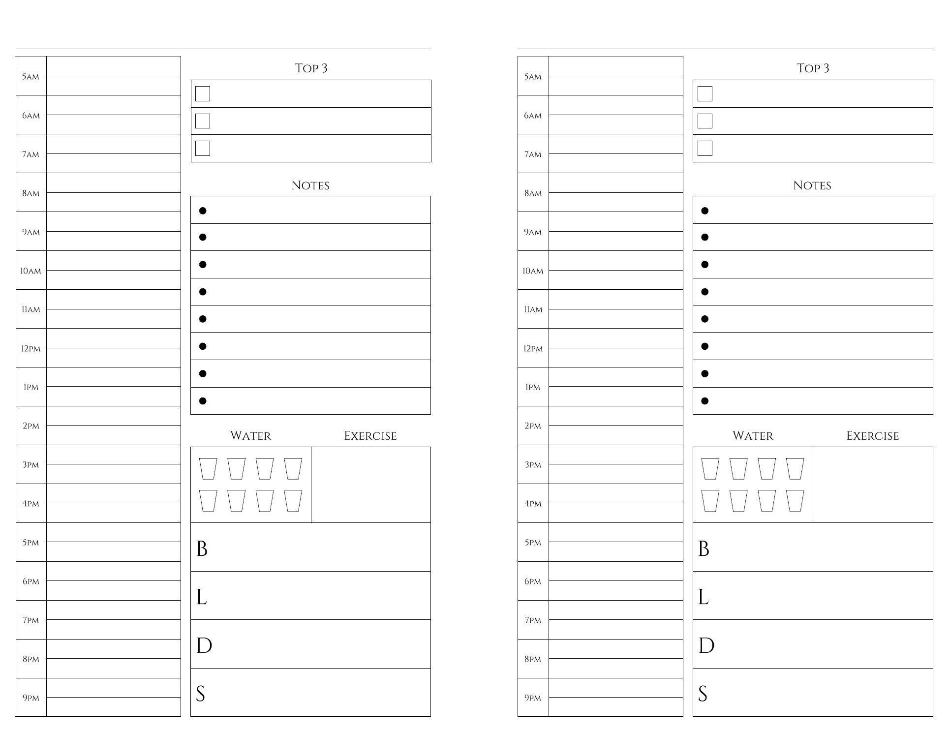 Free Printable Calendar Half Page   Ten Free Printable  Free Printable Blank Calendars To Fill In For Bullet Journal