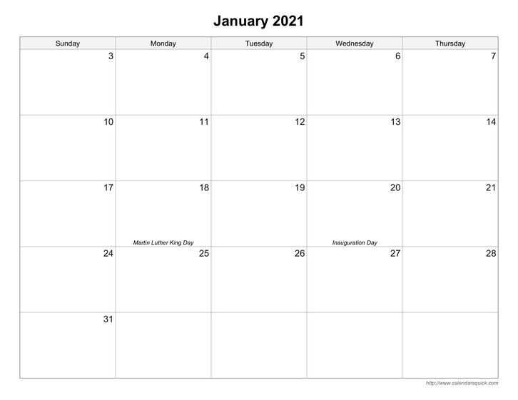 Free Printable Calendars - Calendarsquick  Free Large Print Monthly Calendar