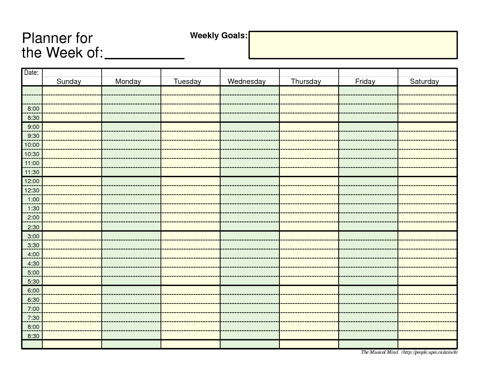 Free Printable Employee Schedule 1 Employee Pdf | Example  Blank Daily Schedule