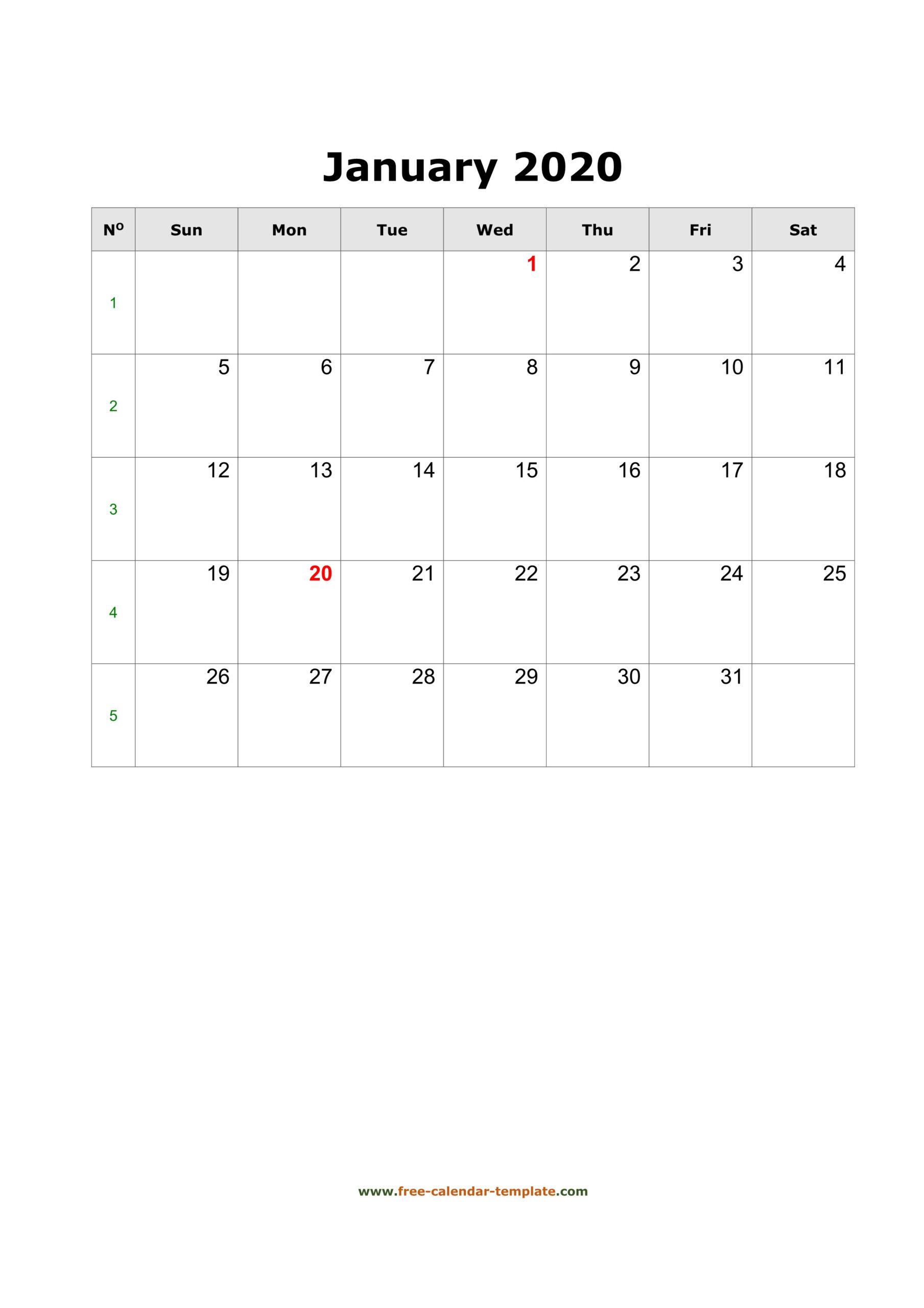 Free Vertical Calendar 2020   Calendar Printables Free  Printable Word Calendar With Lines