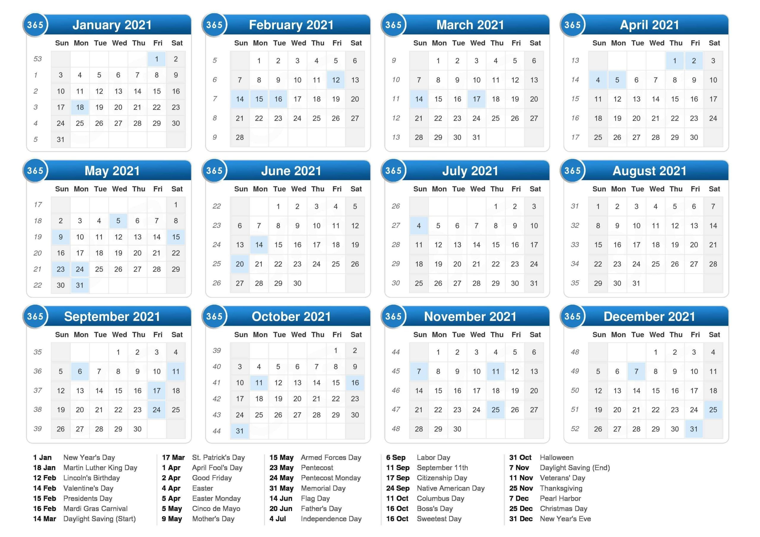 Free Yearly 12 Month Calendar One Page Template Printable  Free 12 Month Editable Calendars