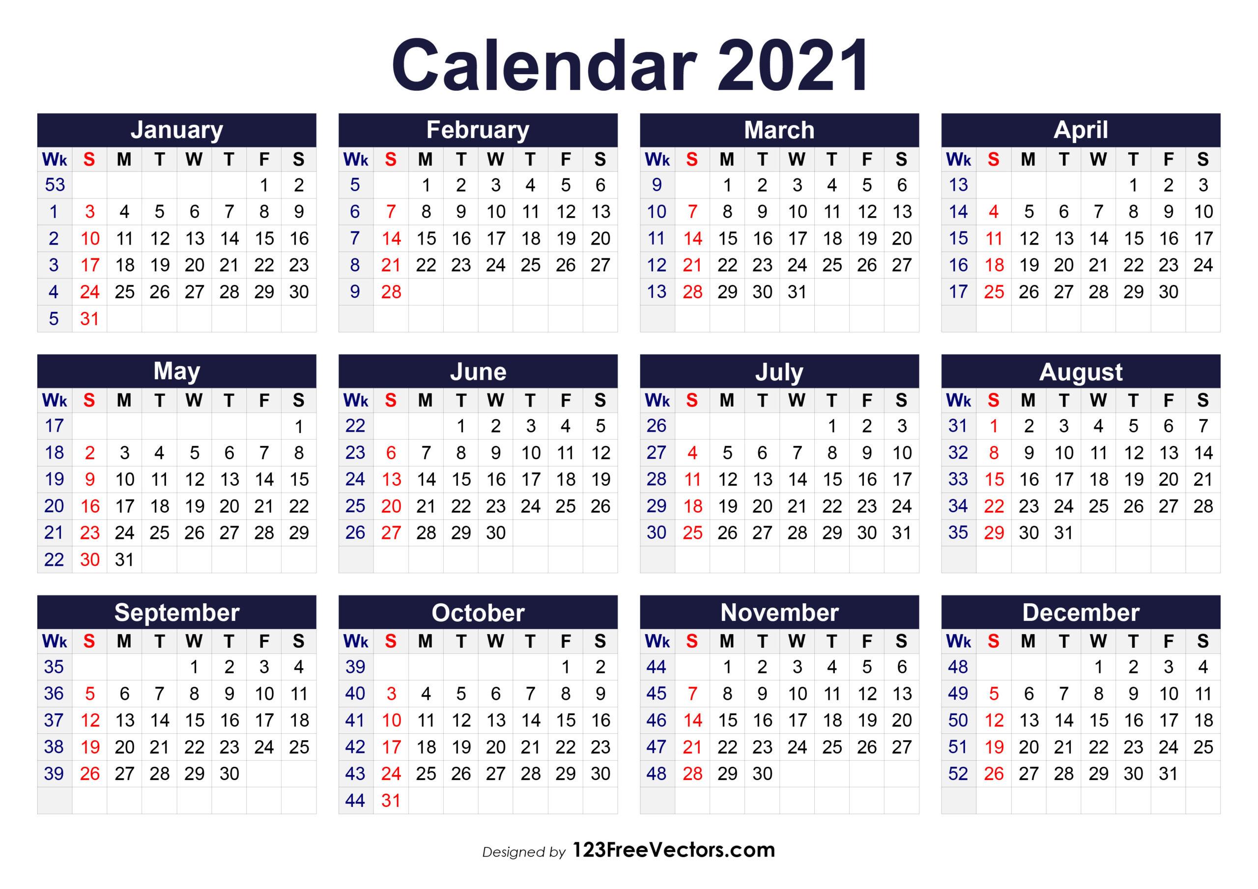 Free Yearly Calendar 2020  Yearly Calendar