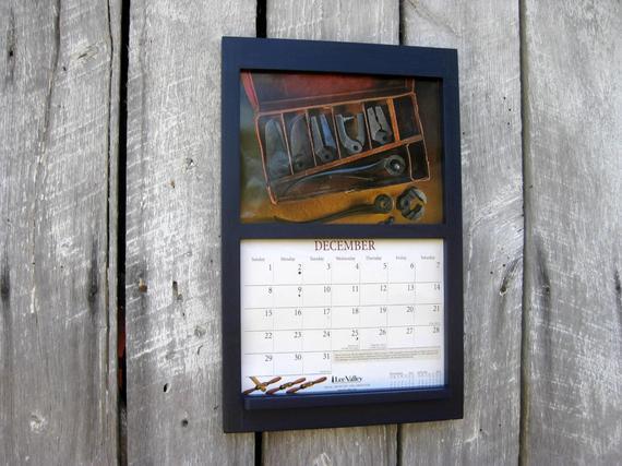 Handmade 11 X 17 Wooden Frame Calendar Holder  Calendar Frames And Holders