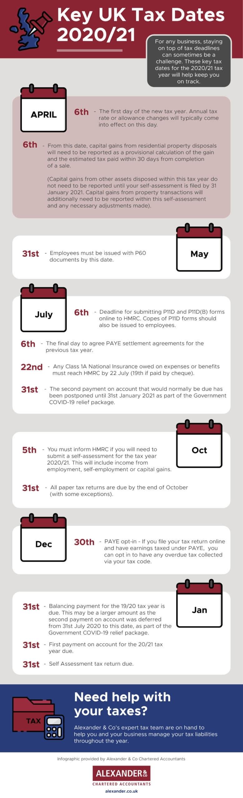 Hmrc Tax Year Calendar 2021 - Calendar Inspiration Design  Tax Calendar 2021