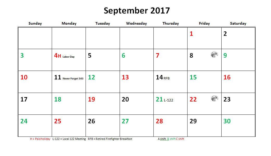 Jfrd 56 Hour Firefighter Shift Calendar 2017  Firefighter Calendar Pdf