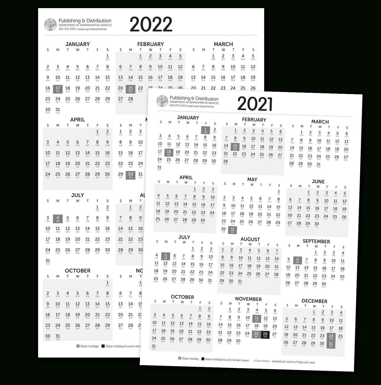 Julian Calendar For Leap Year 2021 | Printable Calendar  Julian Date Calendar 2021 Printable