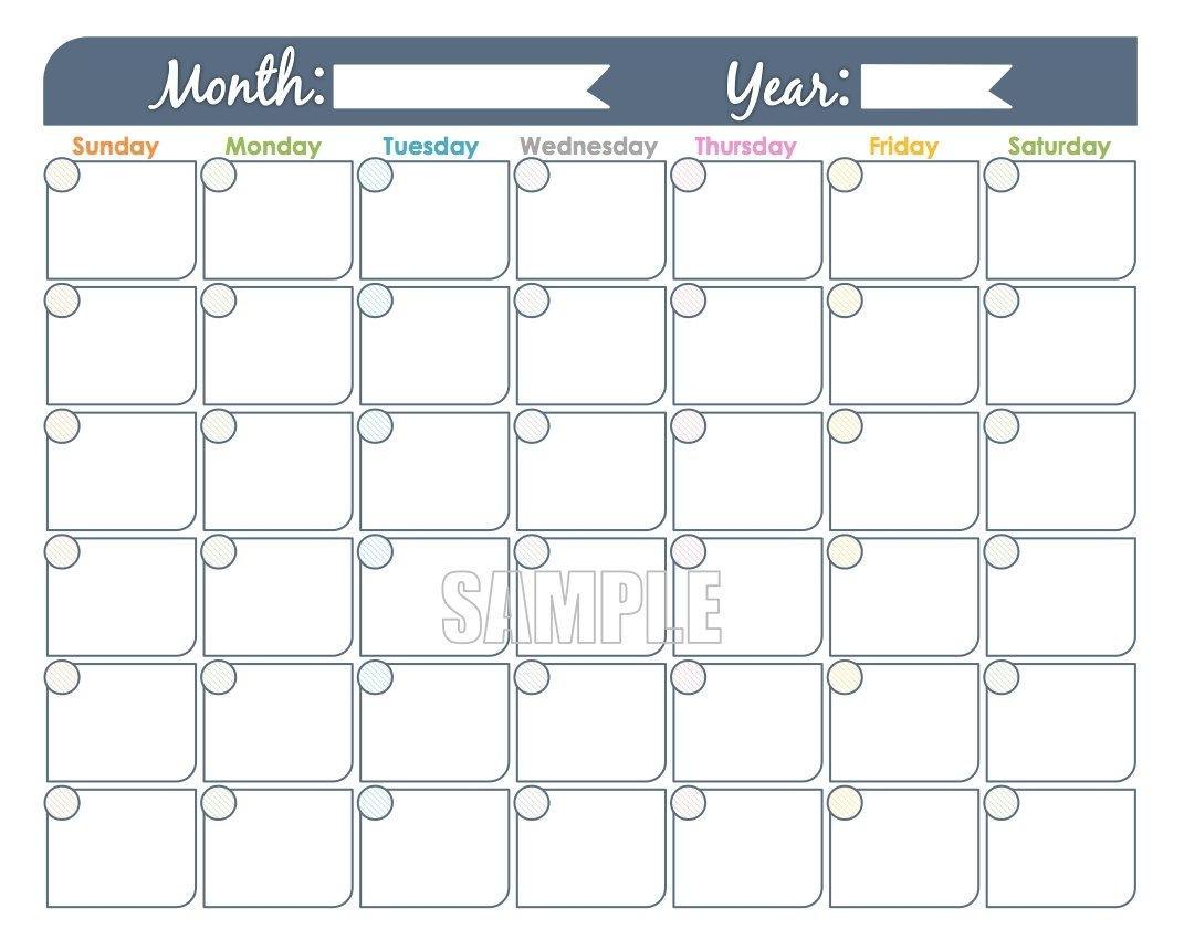 Large Block Printable Monthly Calendar   Calendar Template  Large Printable Calendar