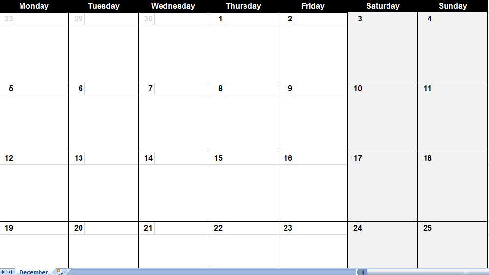 Large Monthly Calendar - Printable Year Calendar  Free Large Print Monthly Calendar