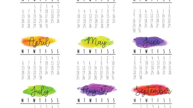 Large Yearly Calendar 2020 With Notes Pdf - Set Your Plan  Yearly Calendar