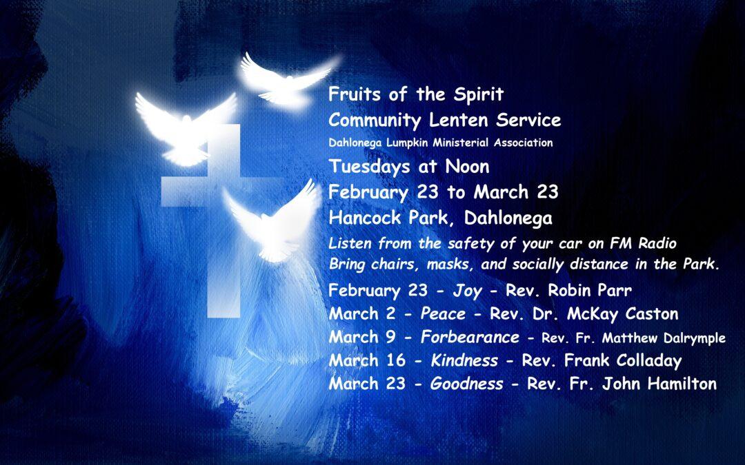Lenten Services | Dahlonega United Methodist Church  Lent 2021 United Methodist