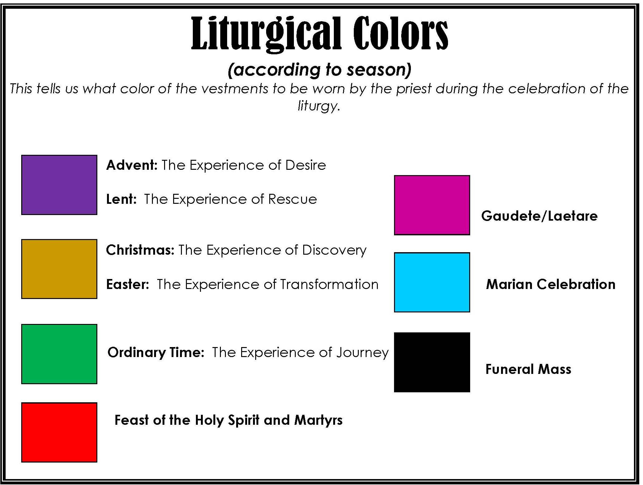 Liturgical Colors Calendar 2017  220 Methodist Lectionary