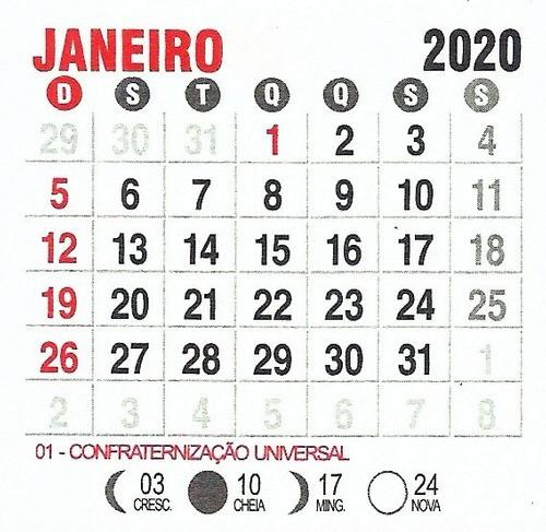Mini Calendário 2020 Bloco 100 Un Para Imã Personalizado  Calendario Por Mes2021