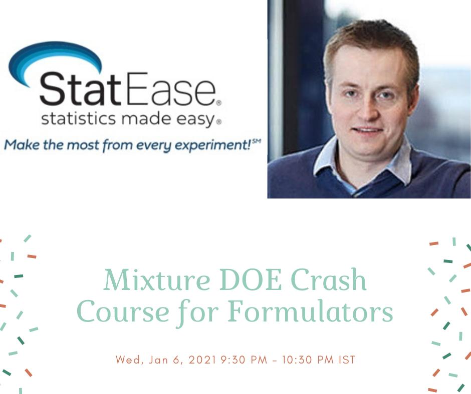 Mixture Doe Crash Course For Formulators - Statease  Depot Injection Calendar
