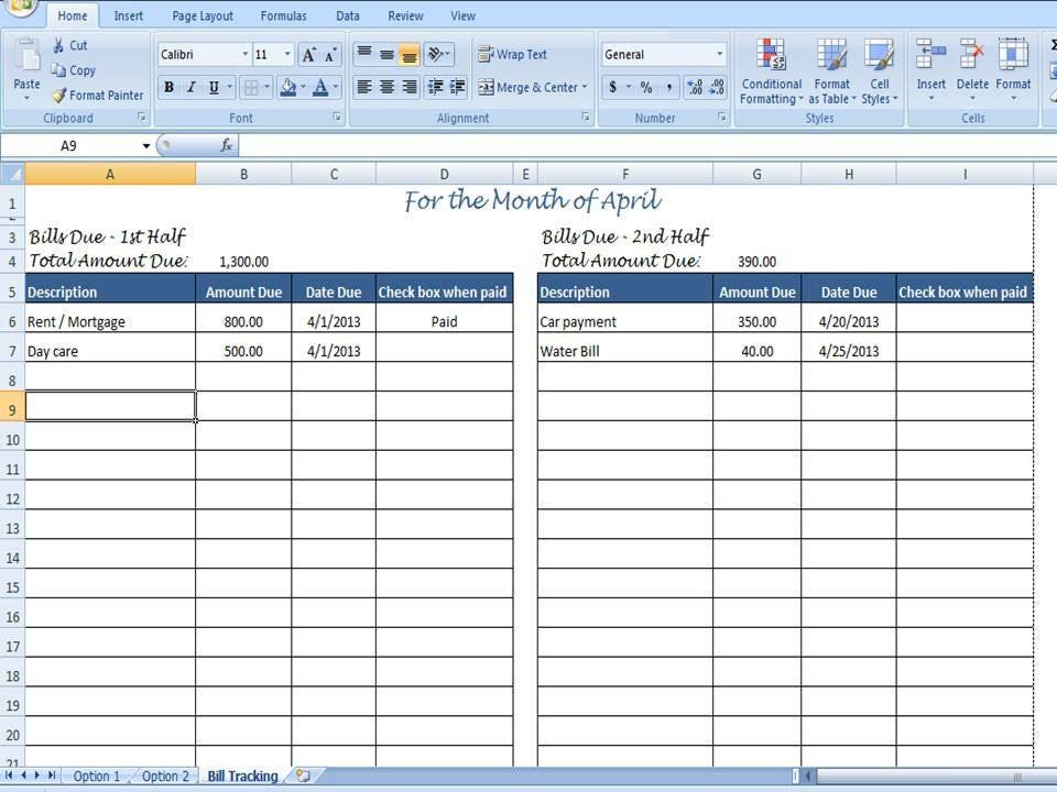Monthly Bill Organizer Bill Trackertimesavingtemplates  Monthly Bills Task Sheet