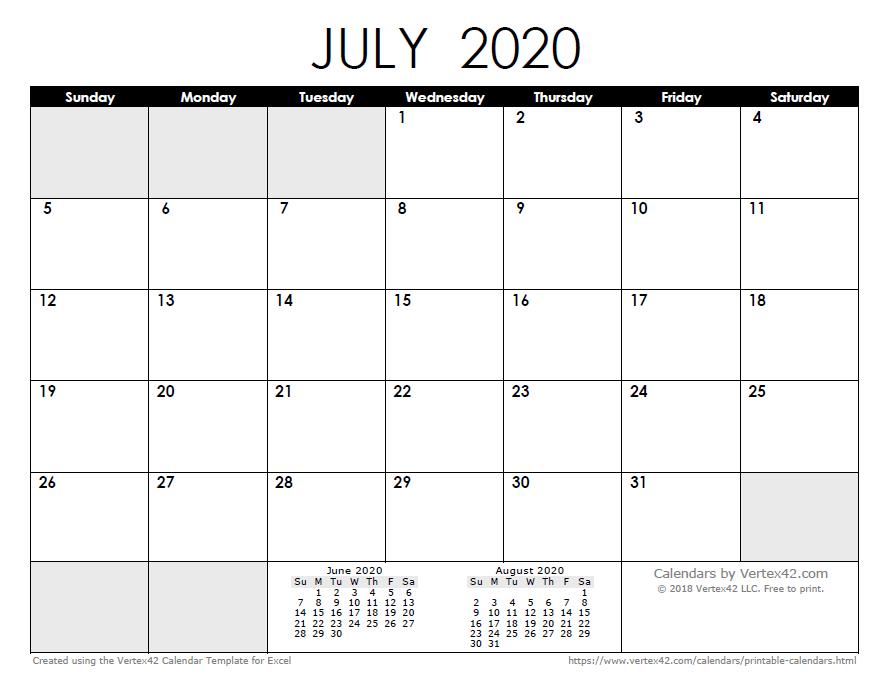 Monthly Blank Calendar 2020  Free Printable Blank Monthly Calendar Templates Editable