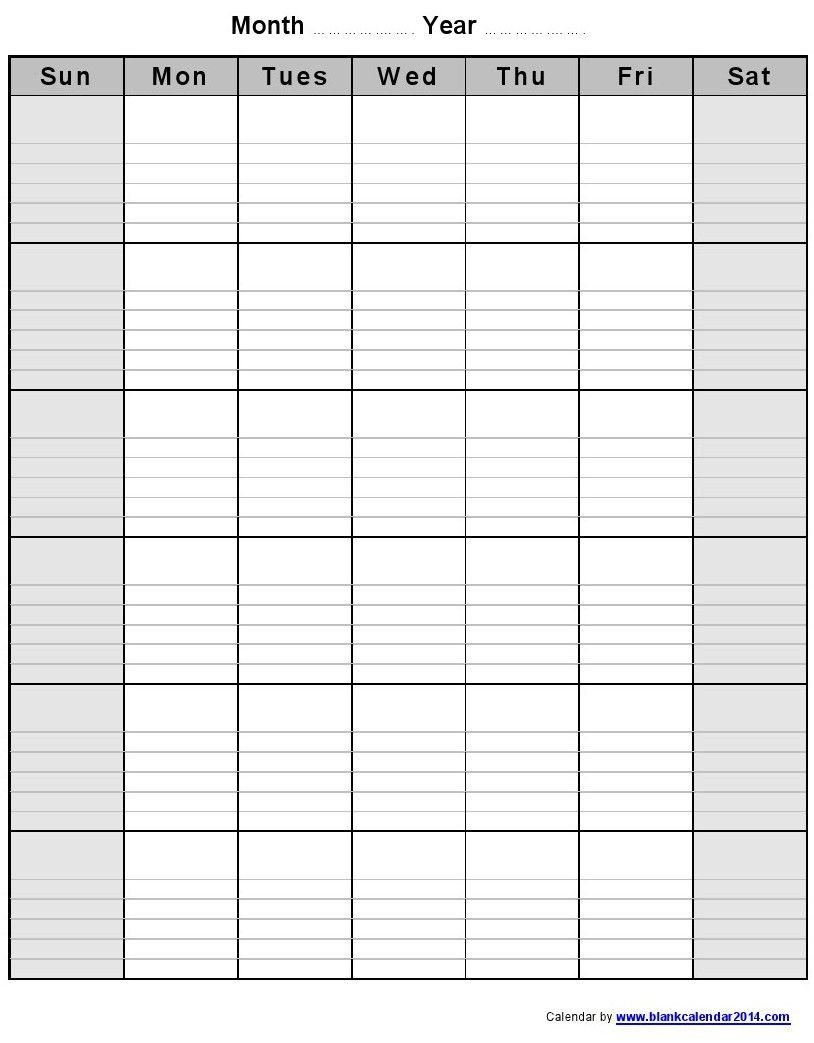 Monthly-Blank-Calendar-Notes-Potrait-1 814×1,043  Free Large Print Monthly Calendar
