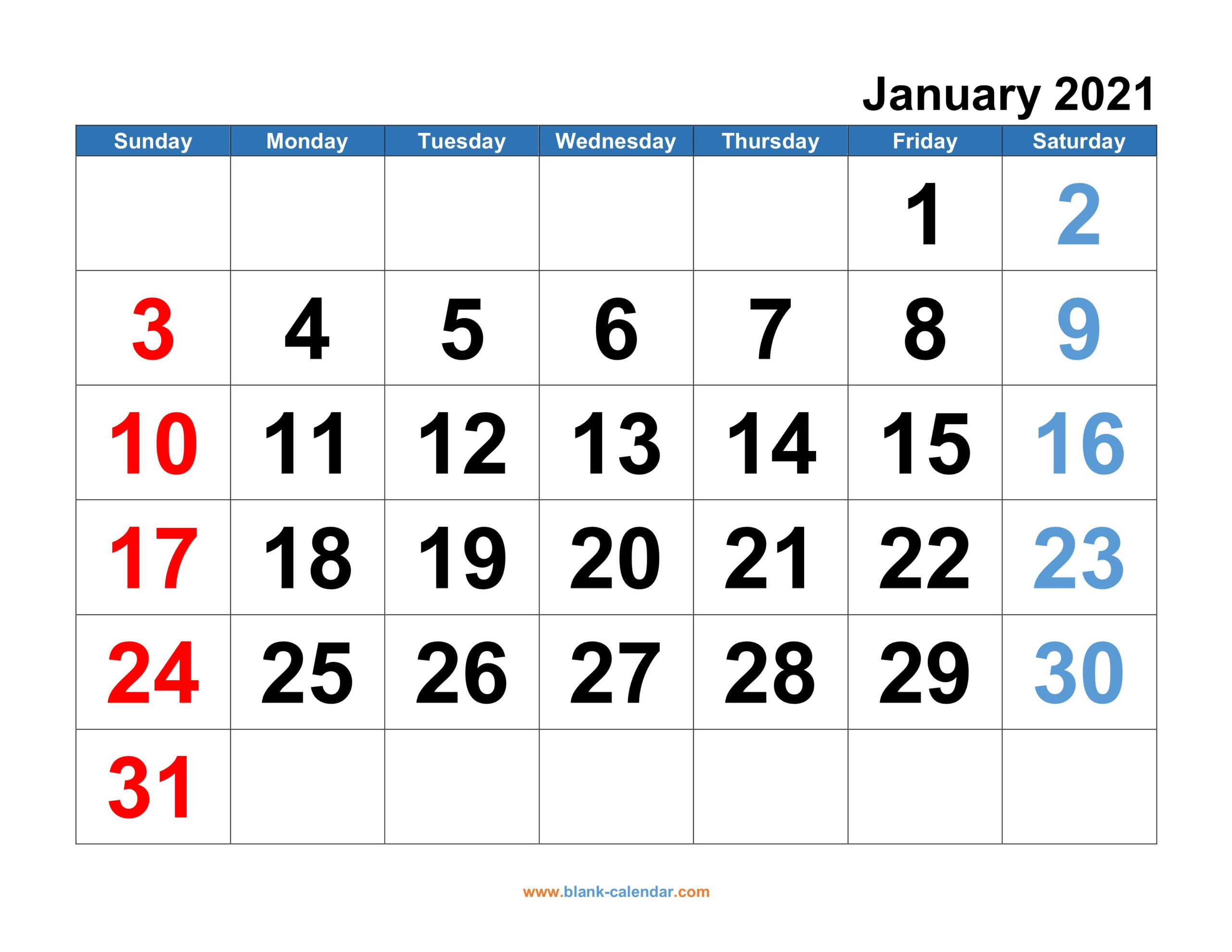 Monthly Calendar 2021   Free Download, Editable And Printable  Free Printable 12 Month Calendar 2021