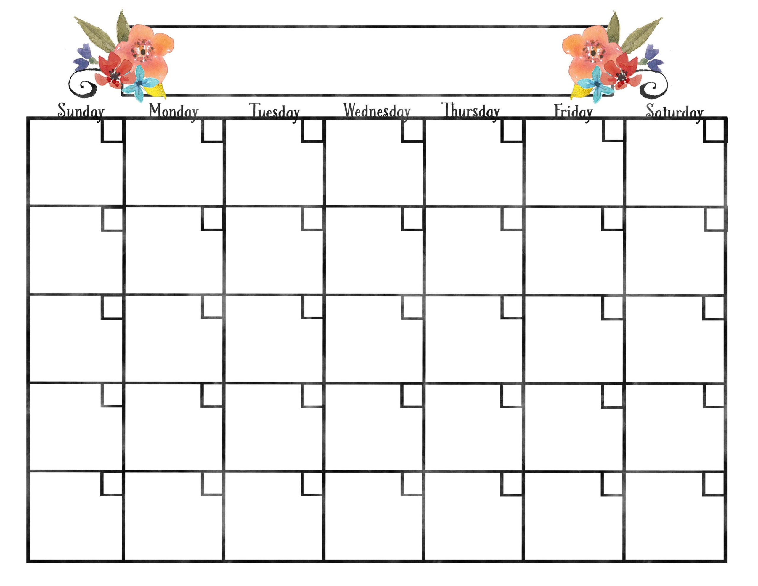 Monthly Calendars | Kkeeler  Calender Monthly Print Outs