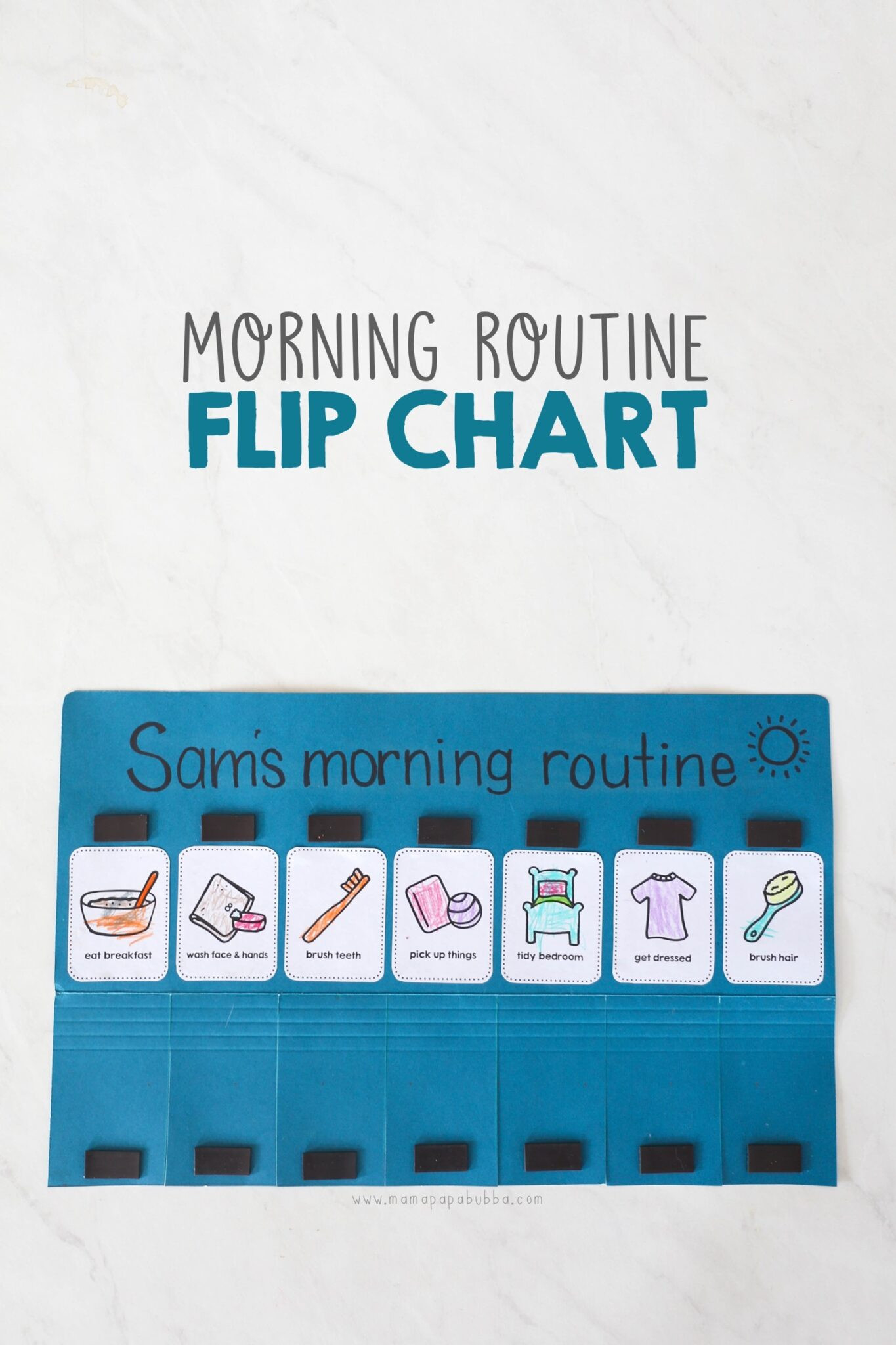 Morning Routine Flip Chart - Mama.papa.bubba.  Flip Chart Template Free